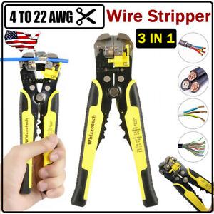 3 In 1 Professional Cable Wire Hand Stripper Plier Cutter Crimper Stripping Tool