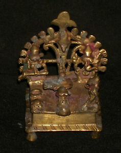 Antique Hindu Family Of God Shiva Traditional Indian Ritual Bronze Very Rare