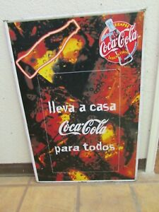 Old Coca Cola Sign-Mexican Restaurant Bar-Vintage-Metal-24x35.5-Advertising-WOW