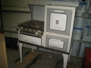 Vintage Antique A B Battle Creek Gas Cook Stove And Oven