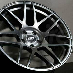 18 Wheels For Brz Frs Esr Rf1 Rotary Forged Hyper Black 18x9 5 5x100 22 Set 4