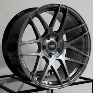 18 Esr Rf1 Hyper Black Rotary Forged Wheels 18x9 5 5x100 35 Rims Set 4