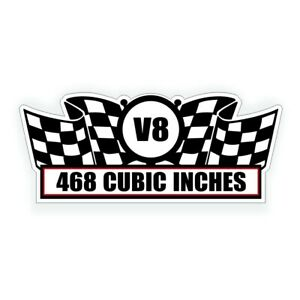 468 Cubic Inch V8 Air Cleaner Engine Decal Fits Chevy Bbc Big Block Crate Motor