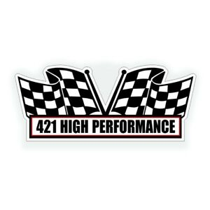 421 High Performance Engine Air Cleaner Decal For Pontiac Tri Power Muscle Car