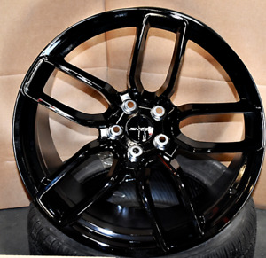 20 Flow Forged Wheels For Dodge Hellcat Charger Challenger Srt Gloss Black Set