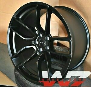 20 Flow Forged Satin Black Staggered Wheels Fit Dodge Charger Challenger Set 4