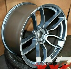 20 Flow Forged Wheels For Dodge Hellcat Charger Challenger Srt Gun Metal Set 4