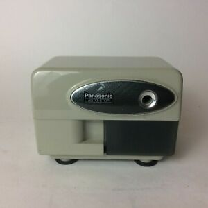 Panasonic Electric Pencil Sharpener Automatic With Auto Stop White Model Kp 310