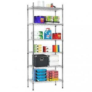 Refurbrished 6 Tier Wire Shelving Metal Shelf Rack 1500 Lbs Capacity 14 x24 x60