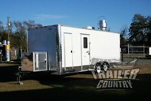 New 8 5x22 8 5 X 22 Enclosed Concession Food Vending Bbq Trailer Mobile Kitchen