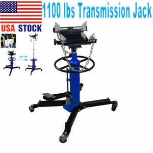 1100lbs Transmission Jack 2 Stage Hydraulic With Pulley 360 For Car Auto Lift