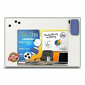 Officepro Ultra slim Lightweight Magnetic Dry Erase Board Accessories 24 X 36