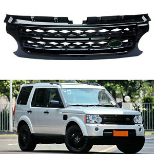 For Land Rover Lr4 discovery 4 2010 2013 New Black Front Grille Grill Overlay