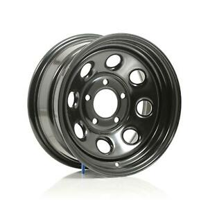 Cragar Soft 8 Black Steel Wheels 15 X7 5x5 Bc Set Of 2