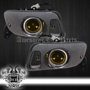 For 92 95 Civic Ex Si Eg6 Yellow Lens Fogs Lamps Led Day Time Running Light