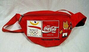 VTG Barcelona 1992 Olympic Games Coca Cola Red  Fanny Pack Retro in EUC