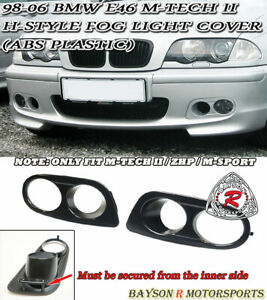 H Style Air Duct Dual Fog Covers Abs Fit 99 06 Bmw E46 M Tech Ii Bumper Only