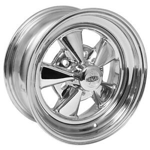 Cragar S S Super Sport 15x6 5x4 Steel Alum 2 Piece Chrome Each Wheel 61c5654