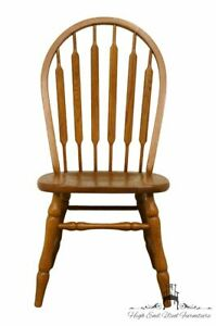 Tell City Solid Oak Windsor Style Dining Side Chair