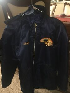 Old Vintage Rainbow Lakes Parsippany New Jersey Fireman Fire Department Jacket