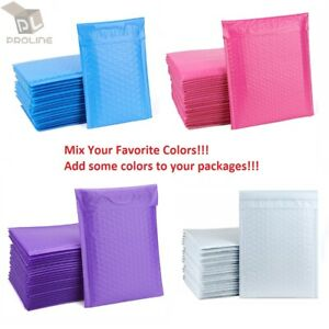 Mix Your Color 500 Poly Bubble Envelopes Mailers 0 Extra Wide Cd Dvd 6 5x10