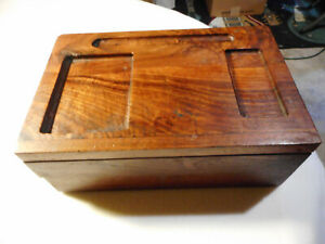Vintage Wooden Trinket Jewelry Box W Pull Out Drawers