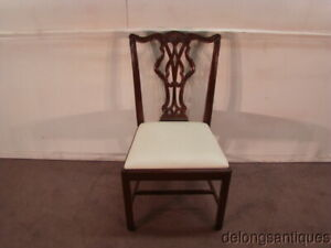 50052 Wellington Hall Solid Mahogany Chippendale Style Side Chair
