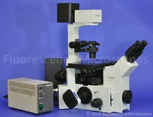 Olympus Ix70 Inverted Fluorescence Phase Contrast Microscope High Na warranty