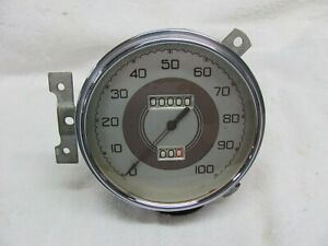 Stewart Warner 100mph Speedometer Model 509 Dd 1937 Ford Curved Glass Rear Mount