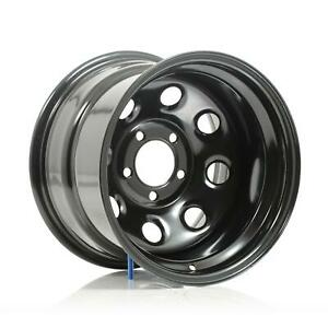 Cragar Soft 8 Black Steel Wheels 15 X10 5x4 75 Bc Set Of 2