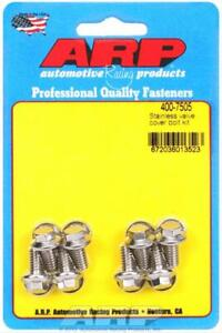 Arp Valve Cover Bolts Stainless Hex Stamped Steel Covers 1 4 20 Thread Set Of 8