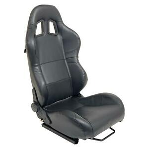 Summit Racing G1159 2 Sport Seat Reclining Black Simulated Leather Each