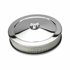 Trans dapt Performance Chrome Air Cleaner 10 Dia Round White Paper Element 2282