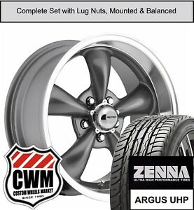17 Inch Wheels And Tires For Chevy Corvette C3 Gray 17x8 Retro Rims Fit 68 82