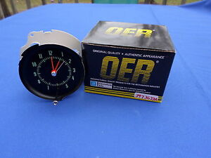 New 1970 Chevelle Ss Monte Carlo In dash Clock Oer Parts 3973633a Gm Licensed