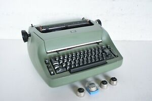 Vintage 1969 Ibm Selectric Typewriter Compact Model 1 I Rare Green Mint Extras