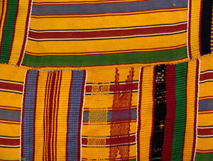 Kente Cloth Handwoven Men Asante Ghana 10x6 Ft African Art