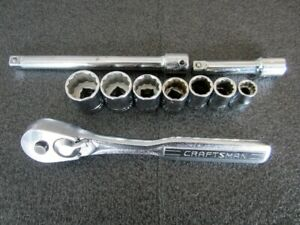 Classic Craftsman 3 8 Drive Sae Socket Set Ratchet 43784 Made In Usa