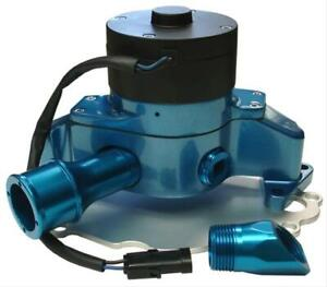 Proform Water Pump Electric 35 Gpm Aluminum Blue Ford Sb Includes Hose Adapter