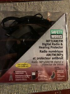 Safety Works Mp3 am fm Digital Radio Hearing Protector