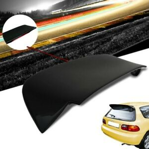 Glossy Black Spoon Style Spoiler Wing led Light For 92 95 Honda Civic Eg eh2 Hb