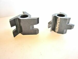 Delta Rockwell Tongue And Groove Three wing Shaper Cutter Set D 196