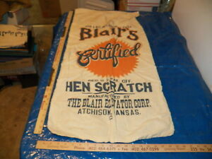 Vintage Cotton Blair S Hen Scratch Chicken Feed Sack Atchison Kansas