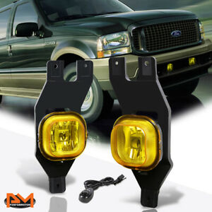 For 99 04 Ford Excursion super Duty Amber Lens Bumper Fog Light lamp W switch