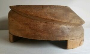 Antique Paramount Hat Block Ny Brim Hat Form 1850s Kepi Railroad Wood Carved