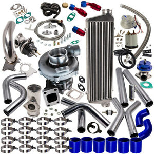 T3 t4 T04e Universal Turbo Charger Kit Wastegate Intercooler Piping bov