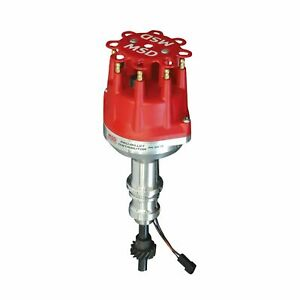 Msd 8578 Pro Billet Small Cap Distributor Ford 351w Mechanical Advance Red Cap