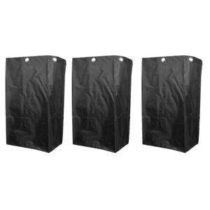 3pcs Janitorial Cart Bag Cleaner Storage Case For Industrial Housekeeping