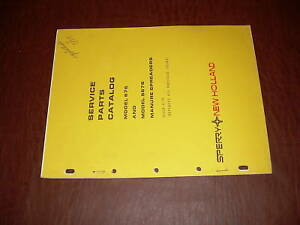 Sperry New Holland 676 Manure Spreader Parts Catalog