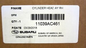 New Oem Genuine Subaru Head Assembly cylinder Head Fb25 Ay Rh 11039ac461